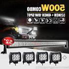 "52inch 500W + 4X 4"" 18W CREE LED Light Bar Spot Flood Combo"
