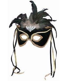 Forum Novelties Black Venetian Karneval Mask