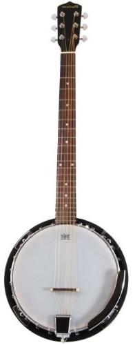6 String Banjo Guitar with Closed Back Resonator and 24