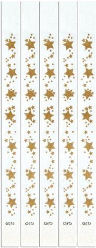 Beistle 60003 100-Pack Gold Star Tyvek Wristbands, 3/4 by 10