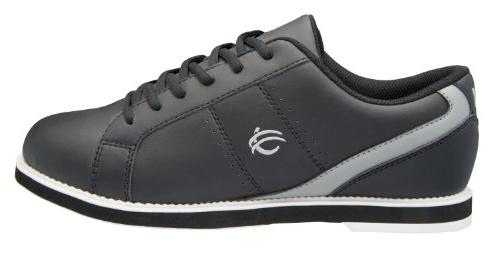 BSI Men's 752 Bowling Shoe, Black/Grey, Size 10.5