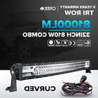 7D CREE 32inch 810W Curved LED Light Bar Spot Flood Offroad