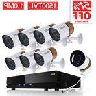 ZOSI 8CH 1080P CCTV DVR 1500TVL Outdoor 960H Night Vision