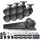 SANNCE 8CH 1080P HDMI DVR 1500TVL In/Out TVI Night Vision