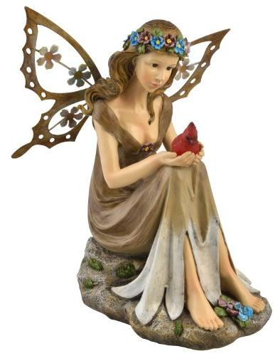 Moonrays 91351 Solar Powered Garden Fairy with Glowing