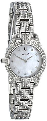 Bulova Women's 96L149 Crystal Round Watch