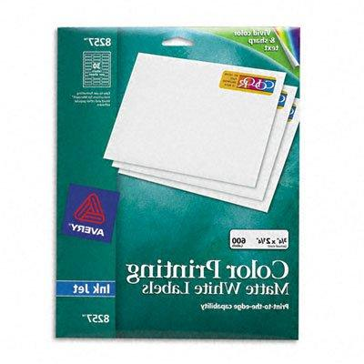 Avery Color Printing Mailing Labels, 3/4 x 2 1/4, Matte