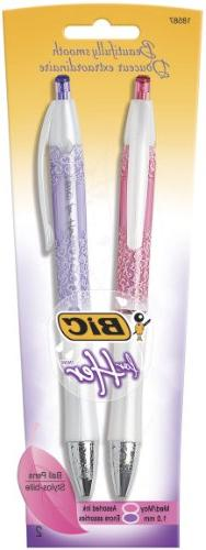 BIC For Her Fashion Retractable Ball Pen, Medium Point, 1.0