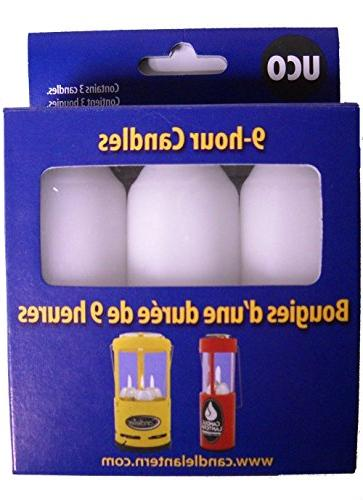 Bundle - 10 Items: UCO 9-hour Candles, 10 Pack for Candle