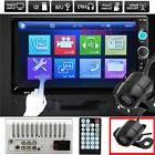 "Camera + 7"" HD Touch Screen 2DIN Car GPS Radio Audio In-Dash"