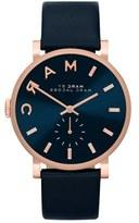 Marc by  'Baker' Leather Strap Watch, 37mm