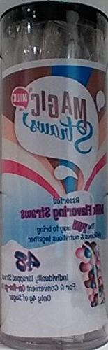 Milk Magic, Milk Flavoring Straws, Variety Pack, 48 Ct,