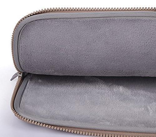 Mosiso Chevron Style Canvas Fabric Laptop Sleeve Case Bag