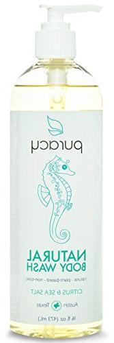 Puracy Natural Body Wash, Citrus and Sea Salt, 16 Fluid