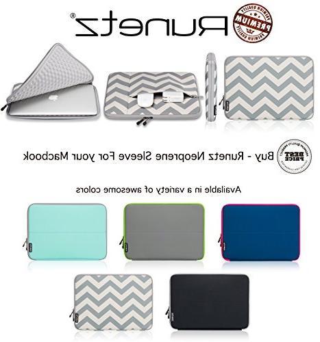 Runetz - 15-inch Chevron GRAY Neoprene Sleeve Case Cover for