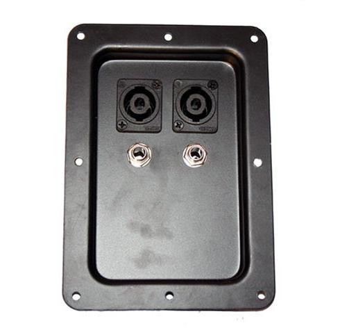 Seismic Audio - Pair of Jack Plates with Dual Speakon and