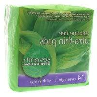 Seventh Generation: Ultra-Thin Pads Overnight with Wings, 14