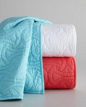 Trina Turk Santorini Coral Full/Queen Quilted Coverlet 88 x