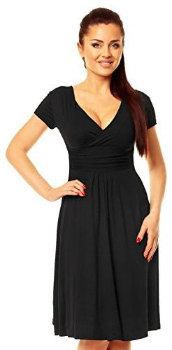 Zeta Ville - Women's - Wrap V-neck Flare Summer Dress -