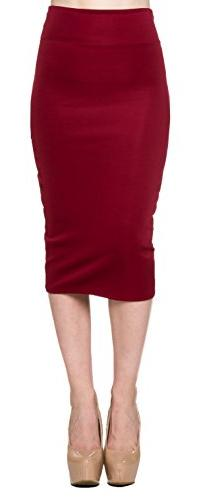 A.S Techno Bodycone Pencil Tight High Waist Midi Skirt-
