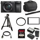 Sony a6300 Mirrorless Digital Camera with 16-50mm f/3.5-5.6 Lens + Bundle