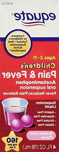 Equate Children's Acetaminophen 4oz Bubble Gum Flavor