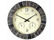 AcuRite 02418 14-Inch Faux-Slate Indoor/Outdoor Wall Clock
