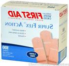"1"" x 3"" ADHESIVE BANDAIDS FLEXIBLE LATEX FREE BOX OF 100"