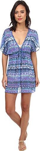 Badgley Mischka Women's Adia Braided Tunic Cover-Up Multi