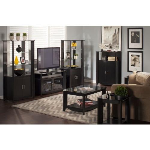 Bush Furniture Aero TV Stand with Set of 2 Tall Storage