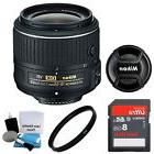 NEW Nikon AF-S NIKKOR 18-55mm f/3.5-5.6G VR II DX Lens - On