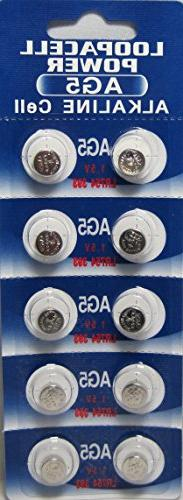 500 Pcs LOOPACELL AG5 Alkaline Button Cell Batteries