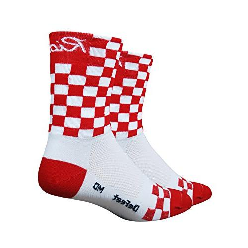 DeFeet Aireator Checkmate Socks, Red/White, Small