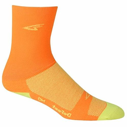 DeFeet AirEator HiTop Hi-Vis D-Logo Cycling/Running Socks