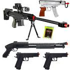 NEW Lot of 5 Airsoft Guns Sniper Rifle Shotgun Machine