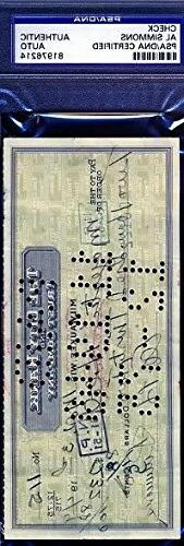 Al Simmons Signed Psa/dna 1949 Check Certified Autograph