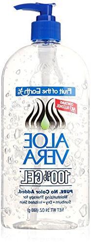 Fruit of the Earth Aloe Vera 100% Gel, 24 oz