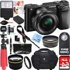 Sony Alpha a6000 24.3MP Mirrorless Camera 16-50mm Lens +64GB