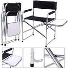Aluminum Folding Director's Chair with Side Table Camping