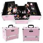 Large Pro Aluminum Makeup Train Case Jewelry Box Cosmetic