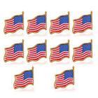 10PCS American waving Flag Lapel Pin United States USA Tack