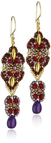 Miguel Ases Amethyst and Rubellite Quartz Swinging Station