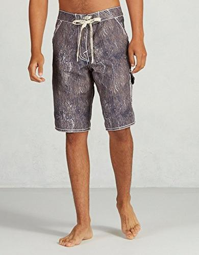 True Religion Men's Andrew Boardshort, Indigo Crackle, 32