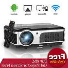 Smart Full HD Video Projector LED LCD Android WiFi Home