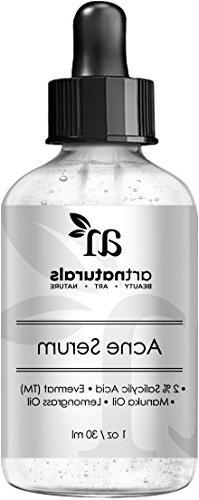ArtNaturals anti Acne Serum Treatment Dermatologist Tested