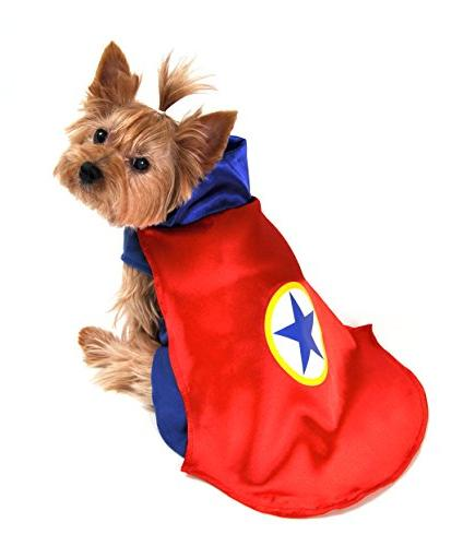AP1090-XS Superhero Dog Costume, Red