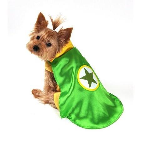Anit Accessories AP1091-XS Superhero Dog Costume, Green