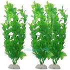 3PCS Artificial Plastic Underwater Grass Green Plant for