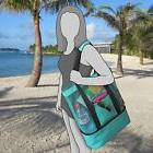 Aruba Mesh Beach Tote Bag, Zipper top, Insulated Cooler &