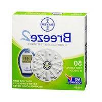 Bayer Bayer Ascensia Breeze 2 Blood Glucose Test Strips, 50